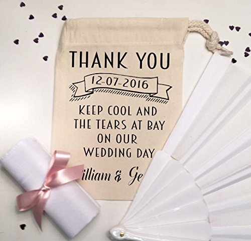 Personalised Pre Filled Thank You Gift Bag Wedding Favour With Hand