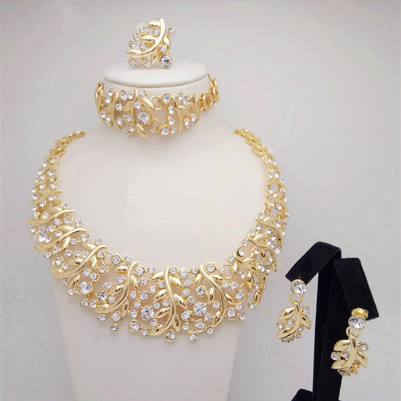3e150e3b5281c Wholesale African Costume 18K Gold Plated party Jewelry Set Big african  jewelry Set Dubai Necklace Sets women Christmas gifts