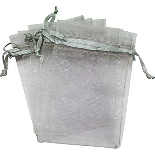 f1a197eee3e RuiChy 100 PACK Organza Gift Bags Wedding Favour Bags Jewelry Pouches